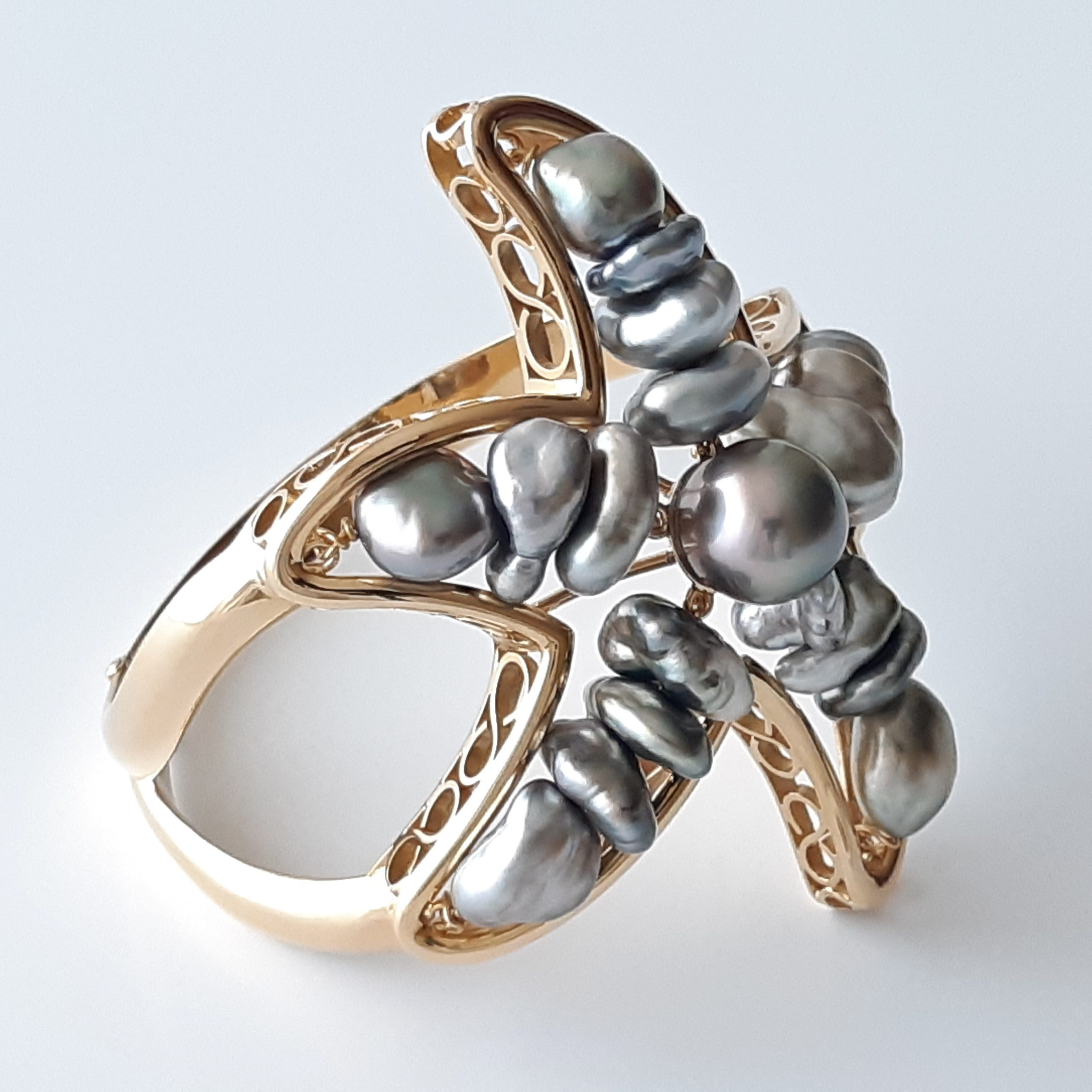 Brazalete perlas Tahití 328
