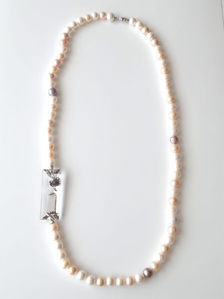 Collar perlas agua dulce 596