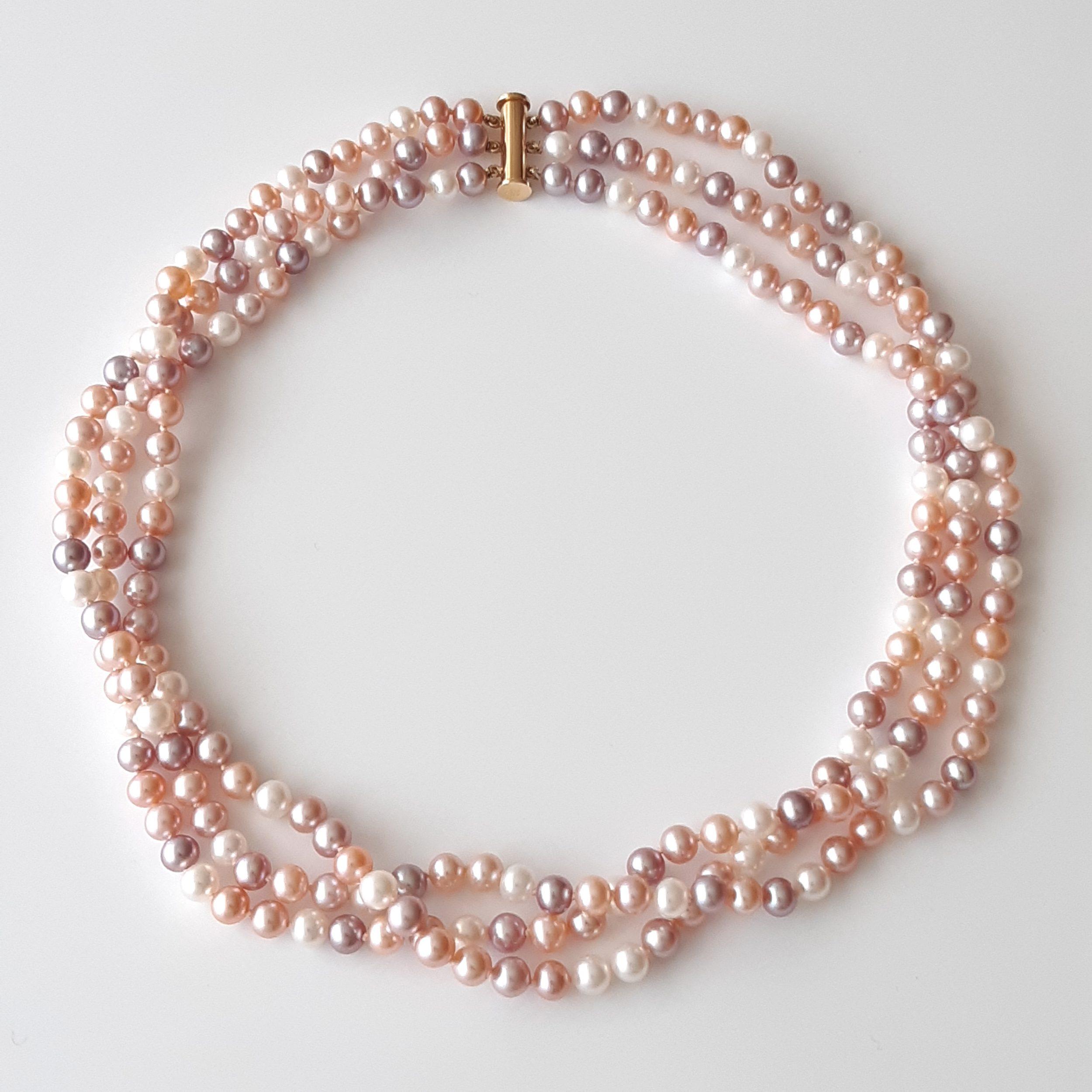 Collar perlas agua dulce 837