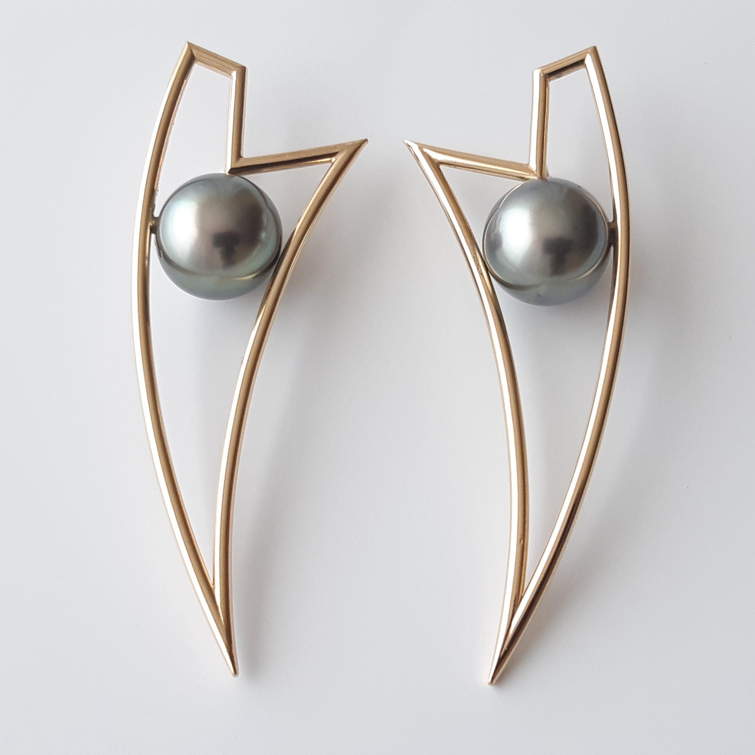 Pendientes perlas Tahití 254