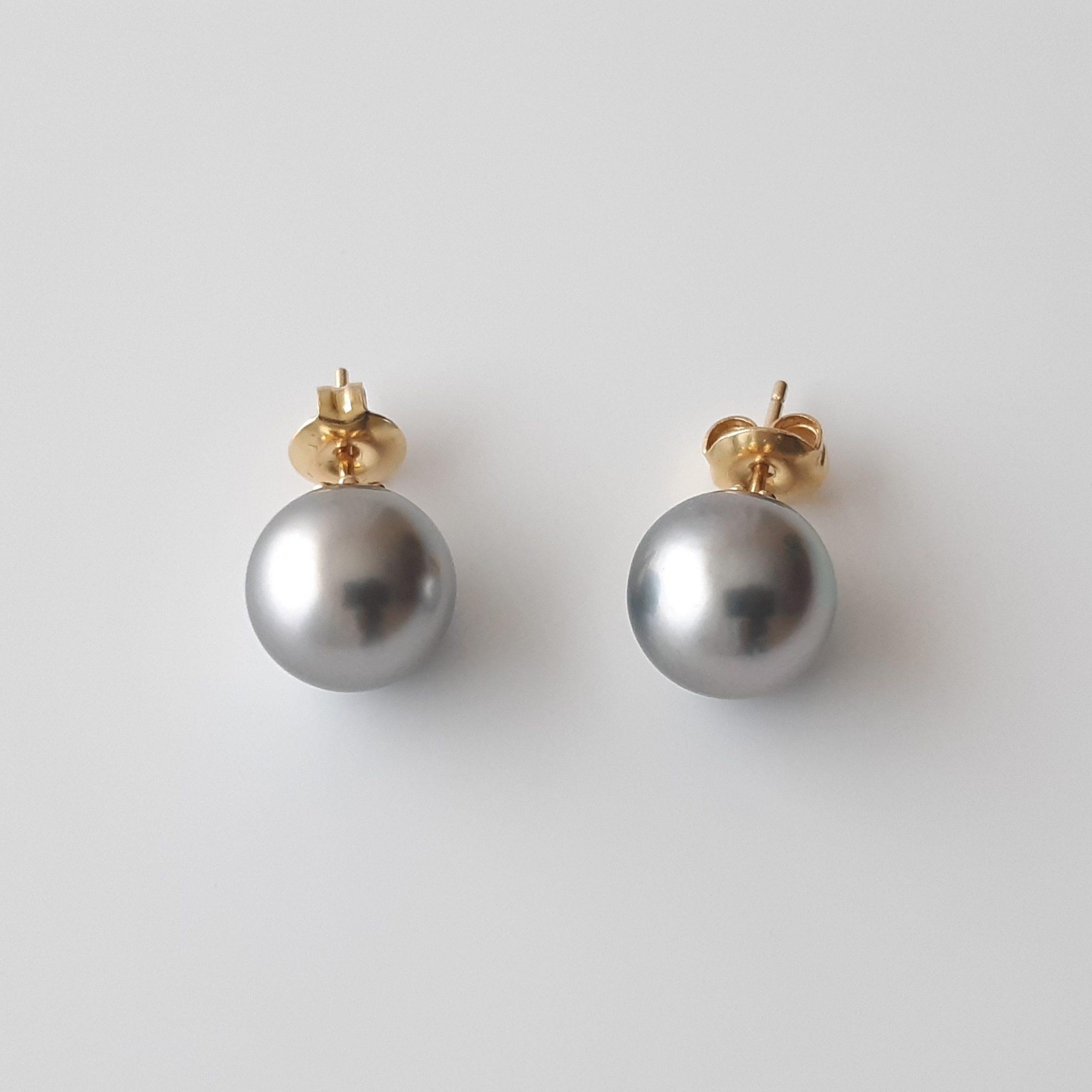 Pendientes perlas Tahití 706