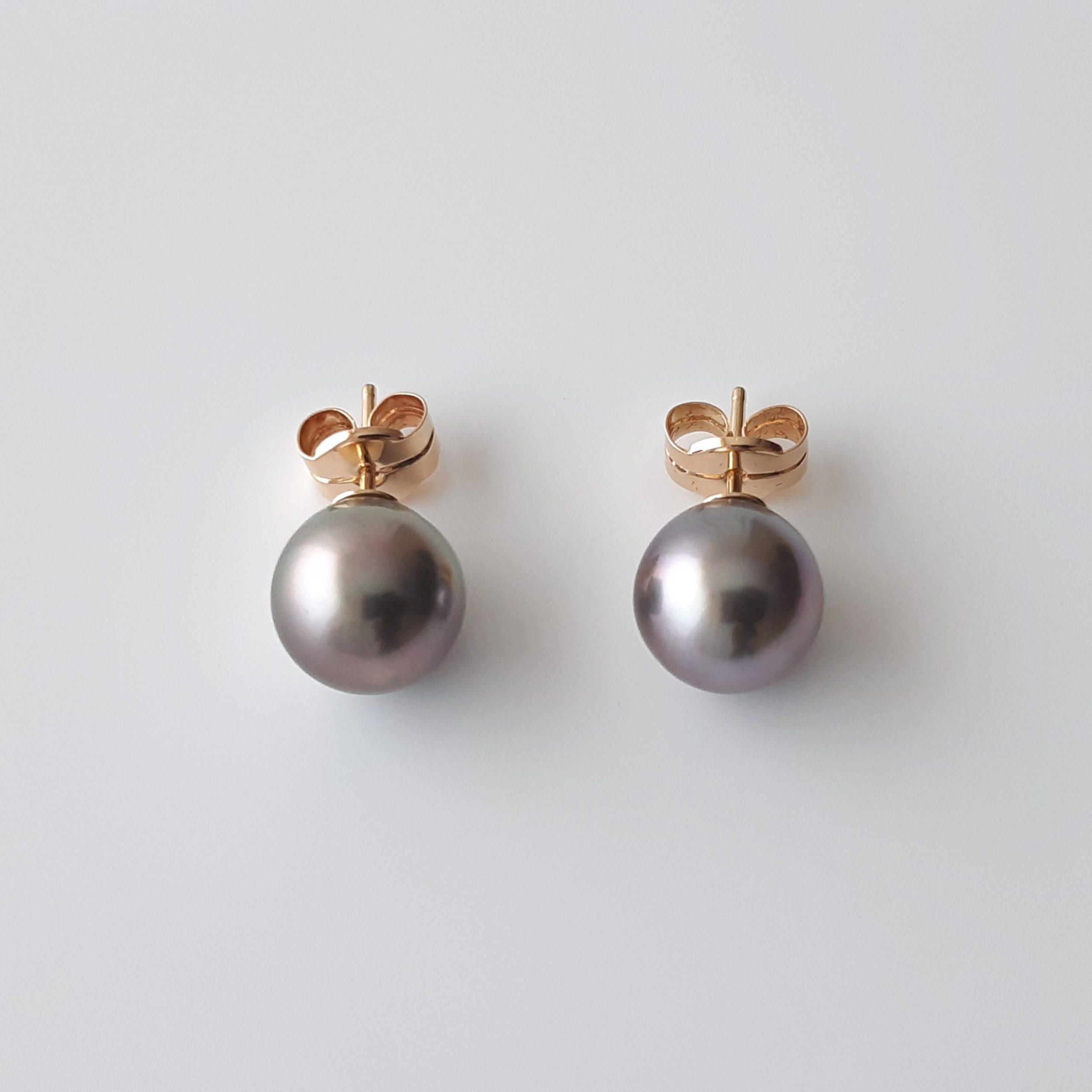 Pendientes perlas Tahití 822