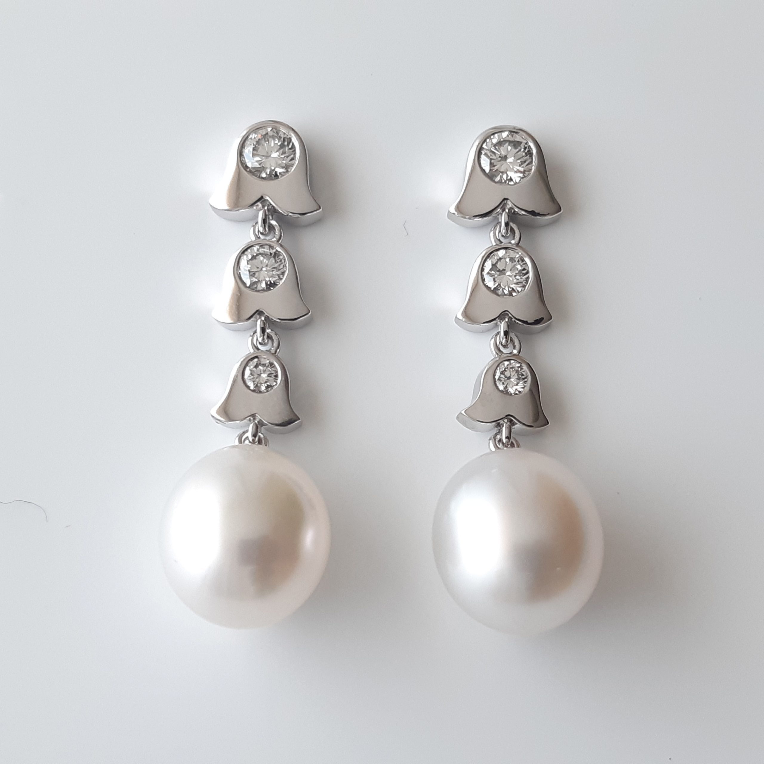 Pendientes perlas australianas diamantes 172