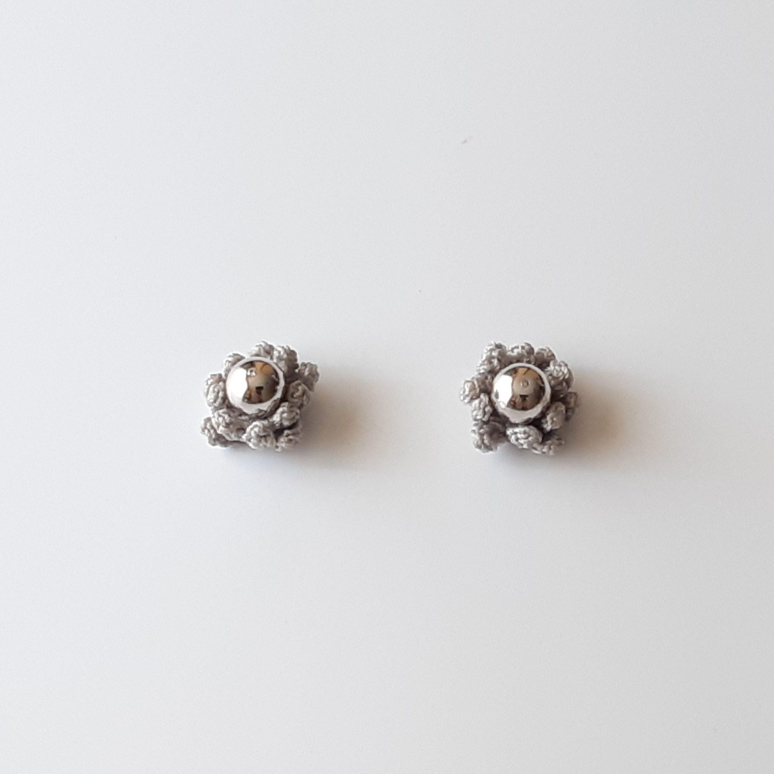 Pendientes de plata y crochet