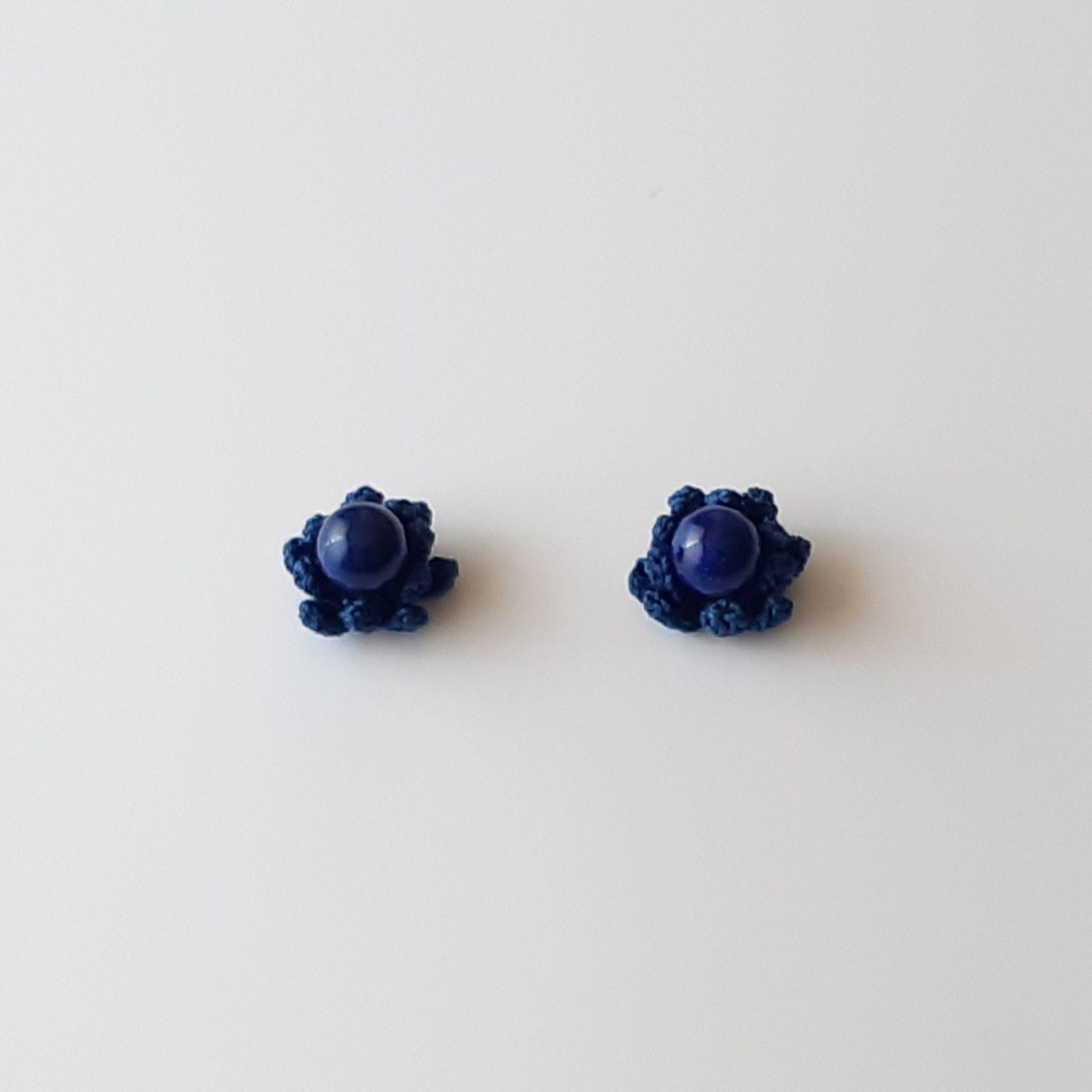 Pendientes de lapislázuli y crochet
