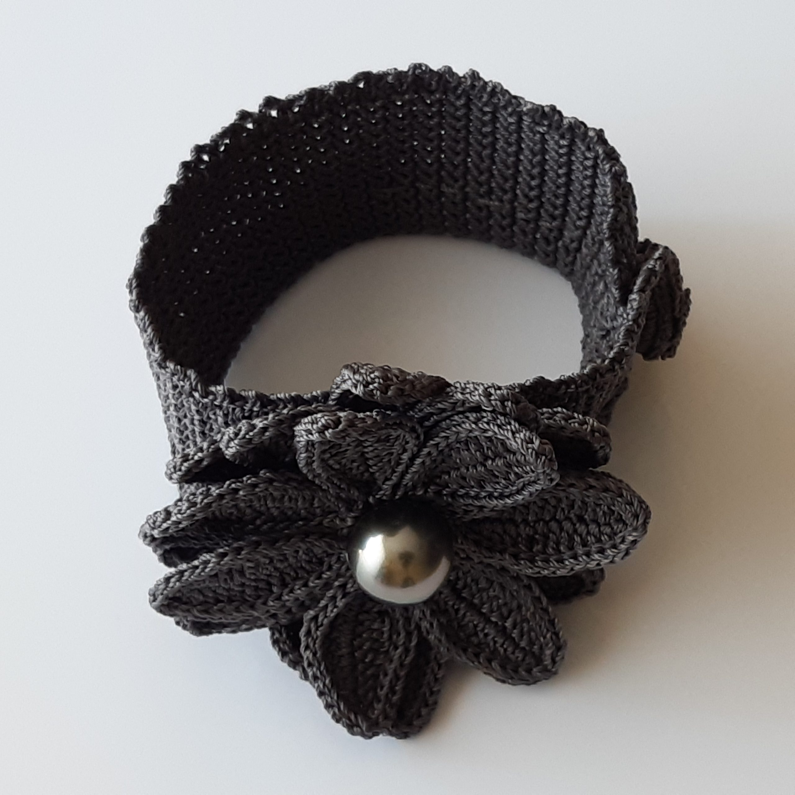 Brazalete de perla de Tahití y crochet (2)